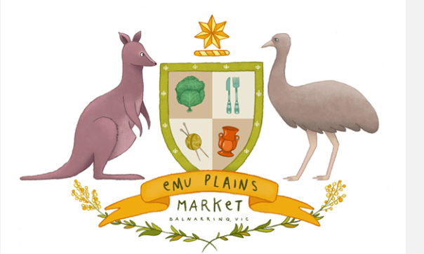 Emu Plains Market Logo - so cute!